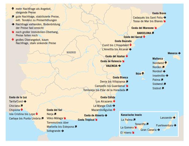 Spanien Karte Regionen.Marktreport Spanien Uberwiegend Heiter Bellevue